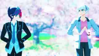 【遊戯王MMD】No Title【藤木遊作/Playmaker&鴻上了見/リボルバー】