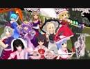 スカーレット姉妹と霊夢&魔理沙で《新幕》桜降る代に決闘を(1話)