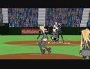 【MMD艦これ野球】バット投げ初月とグラブ投げビスマルク