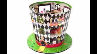 段ボールと空き箱で帽子屋さんを作ってみた