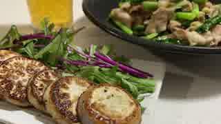 かぶのステーキと豚バラ・かぶの葉のガリ