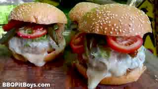 ポーク&ビーンチリチーズバーガー