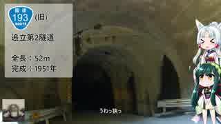 【ずんタコ車載】初心者の癖にカブで隧道制覇 9本目