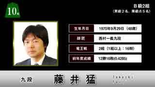出場棋士一挙紹介!! 2019年将棋順位戦番付