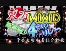 【予告】第4回東方MMD無茶ぶり4コマ合作リレー 参加者紹介動画【第11回東方ニコ童祭】