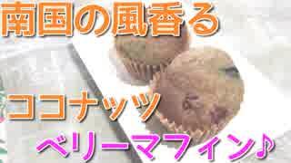 【低糖質】ココナッツ香る♪トロピカルなミックスベリーのプレーンマフィン