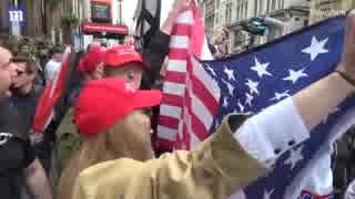 反トランプ集会に数万人が集まり歓迎派はたった数十人と報道するメディアw