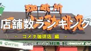 店舗数ランキング コメダ珈琲店編