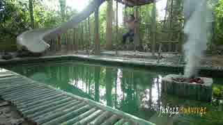 ホモと学ぶスライダー付き温水プールの作り方.Primitive_Technology in Singapore