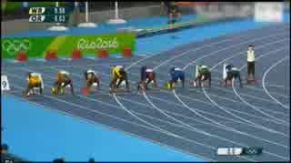 オリンピック男子100mで優勝するイワマン.mp4