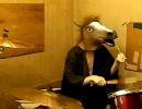 全裸になりながらドラムで遊んでみた