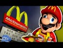 [スーパーマリオ64]マリオ、マクドナルドで働く