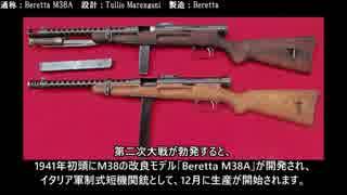 名銃を知れ! イタリアの短機関銃#1 Beretta M1918 MAB 38 Beretta M12【ゆっくり解説】