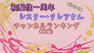 シスター・クレア動画投稿一周年紀念ランキング[後篇]