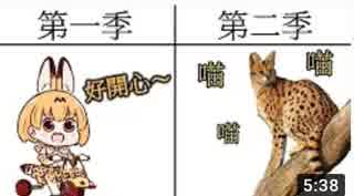 【海外の反応】台湾のフレンズがけものフレンズ1期と2期を対比するようです【動物朋友】