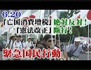 【草莽崛起】6.20「亡国消費増税」絶対反対!「憲法改正」断行!緊急国民行動[桜R1/7/3]