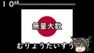 【世界の言語の数体系】日本語編