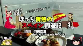 【ゆっくり】スペイン周遊記 3 ANAスイートラウンジでラウンジ飯