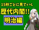 紲星あかりの「15秒ごと」に見ていく歴代内閣!! 明治編