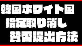 韓国のホワイト国指定取り消し 国へ意見を送ろう 提出方法の紹介