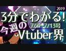 【7/7~7/13】3分でわかる!今週のVTuber界【佐藤ホームズの調査レポート】