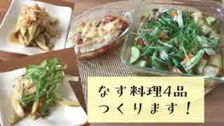 【簡単レシピ】なす料理4品作ってみた !