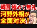 河野外相が韓国駐日大使の元徴用工解決案に極めて無礼だと激怒、その場の関係者も一瞬で凍り付く緊急事態に日本政府もビックリw【KAZUMA Channel】