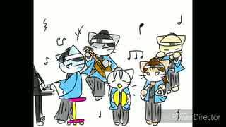 【手書き】ねこ達が『五月病マリオ』を弾いてみた【ねこねこ日本史】