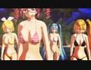 【MikuMikuDance】 ミク・テト・リン・ネルで 『 ヒビカセ 』 ~南国ビキニver.~