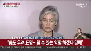 ホワイト国排除に文大統領「盗人猛々しい」日米韓会談後の康外相が...