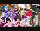 スカーレット姉妹と霊夢&魔理沙で《新幕》桜降る代に決闘を(3話)