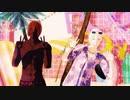【Fate/MMD】ルルハワで遊びたかったマスターと怒【二部四章主従】