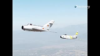 歴史に残る空中戦:ミグ15とF-86