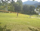 うたアニマルパーク内の公園。長いすべり台で遊んだよ。