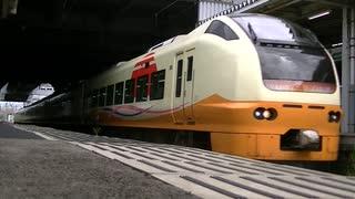 2008M「いなほ8号」E653系7連@秋田出発