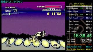 【SFC F-ZERO】Grand Prix Master RTA 41:10.47 (TS録画)