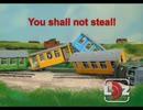 ラトビア?の鉄道交通安全ビデオ