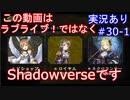 【shadowverse】Master帯の初心者2pick #30-1【実況あり】