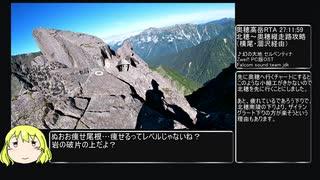 【RTA(リアル登山アタック)】奥穂高岳 北