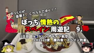 【ゆっくり】スペイン周遊記 9 ルフトハンザ機内食 マドリード到着