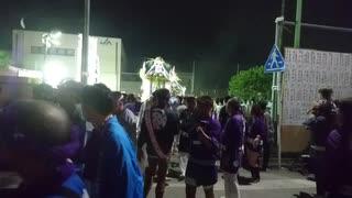 神奈川県座間市鎮座令和元年鈴鹿明神社例大祭 お神輿宮入