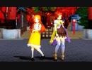 【MMD花騎士】ツワブキとマーガレットで「林檎花火とソーダの海」【EndressStorm式モデル こんにゃく式モデル】