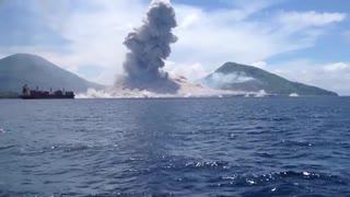 【音量注意】見よ!これが噴火の衝撃波だ!
