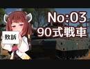 [WarThunder陸]東北きりたんの日本戦車どうでしょう?03(VOICEROID+CeVIO実況)