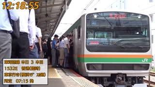 【台風15号】東海道線運転再開直後の戸塚駅【遅延】
