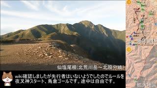 【RTA@練習】南アルプス北半分(夜叉神→甲斐駒→北岳→塩見→鳥倉)