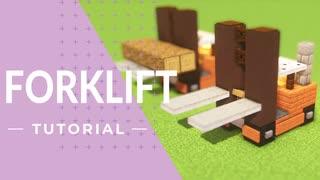マインクラフト - 小さなフォークリフトの作り方(建築講座)