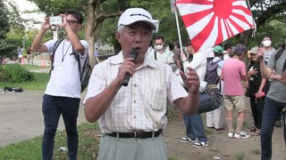 第3286回 さよなら韓国!国民大行進 in 錦糸町  始めのあいさつ NHK盗み撮り