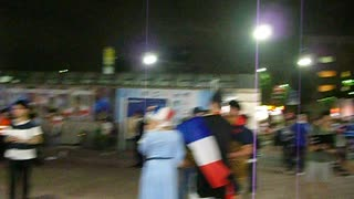 20190921 ラグビーW杯 フランスvsアルゼンチン戦の試合後の飛田給駅前の光景 その2