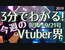 【9/15~9/21】3分でわかる!今週のVTuber界【佐藤ホームズの調査レポート】